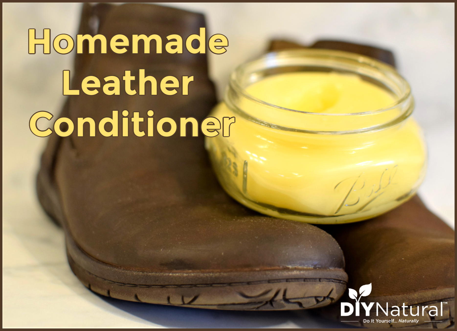 Homemade Leather Conditioner: Clean