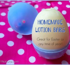 Homemade Lotion Bar Recipe Formed in Easter Eggs
