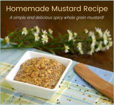A Simple Homemade Whole Grain Mustard Recipe