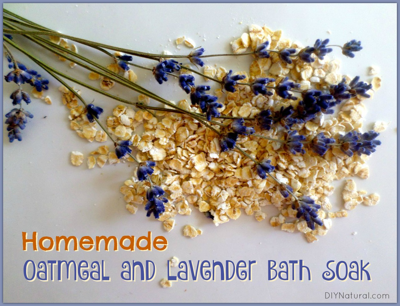 Homemade Oatmeal Bath Soak (with Lavender) for Dry Skin