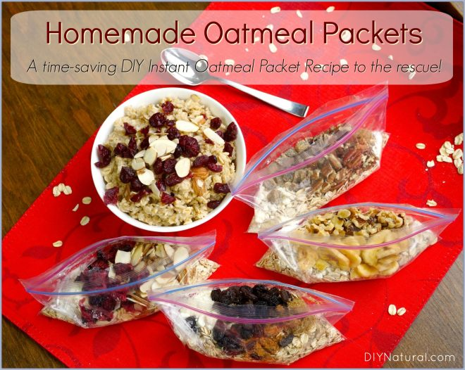 Homemade Oatmeal Packets DIY Instant