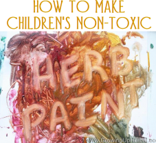 How To Make Non-Toxic Herbal Paint for Children