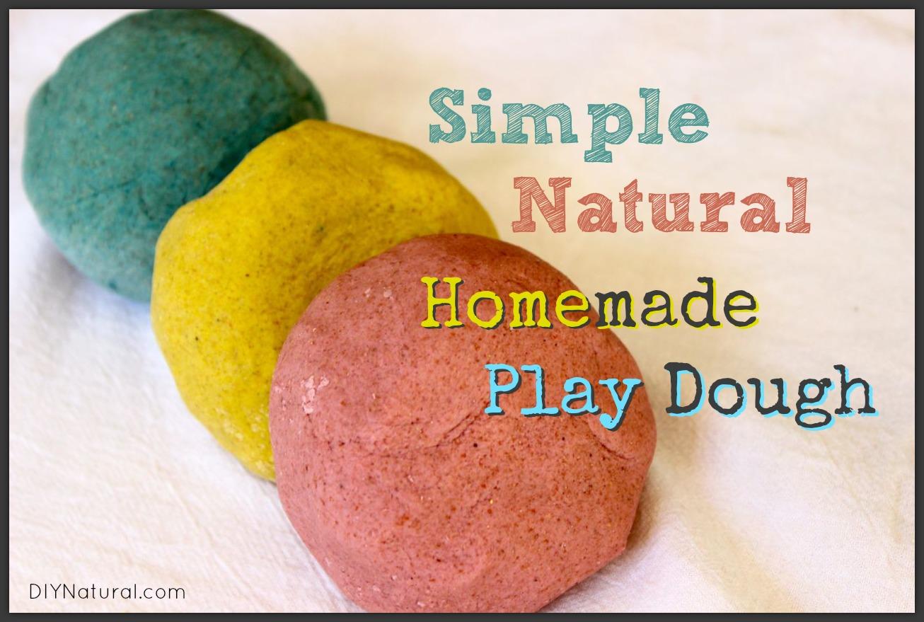 Homemade Playdough A Simple And All Natural Recipe
