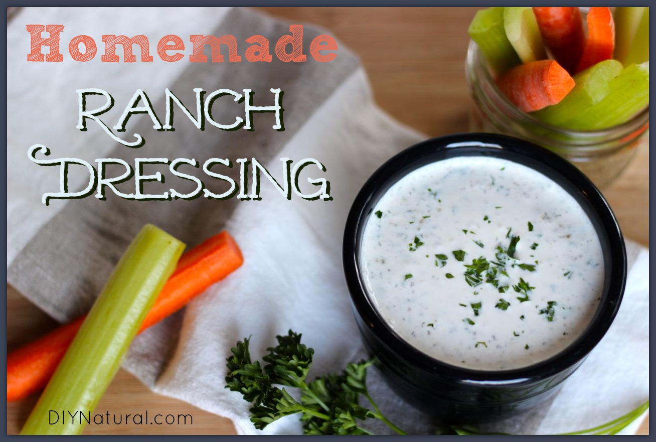 Homemade organic ranch dressing