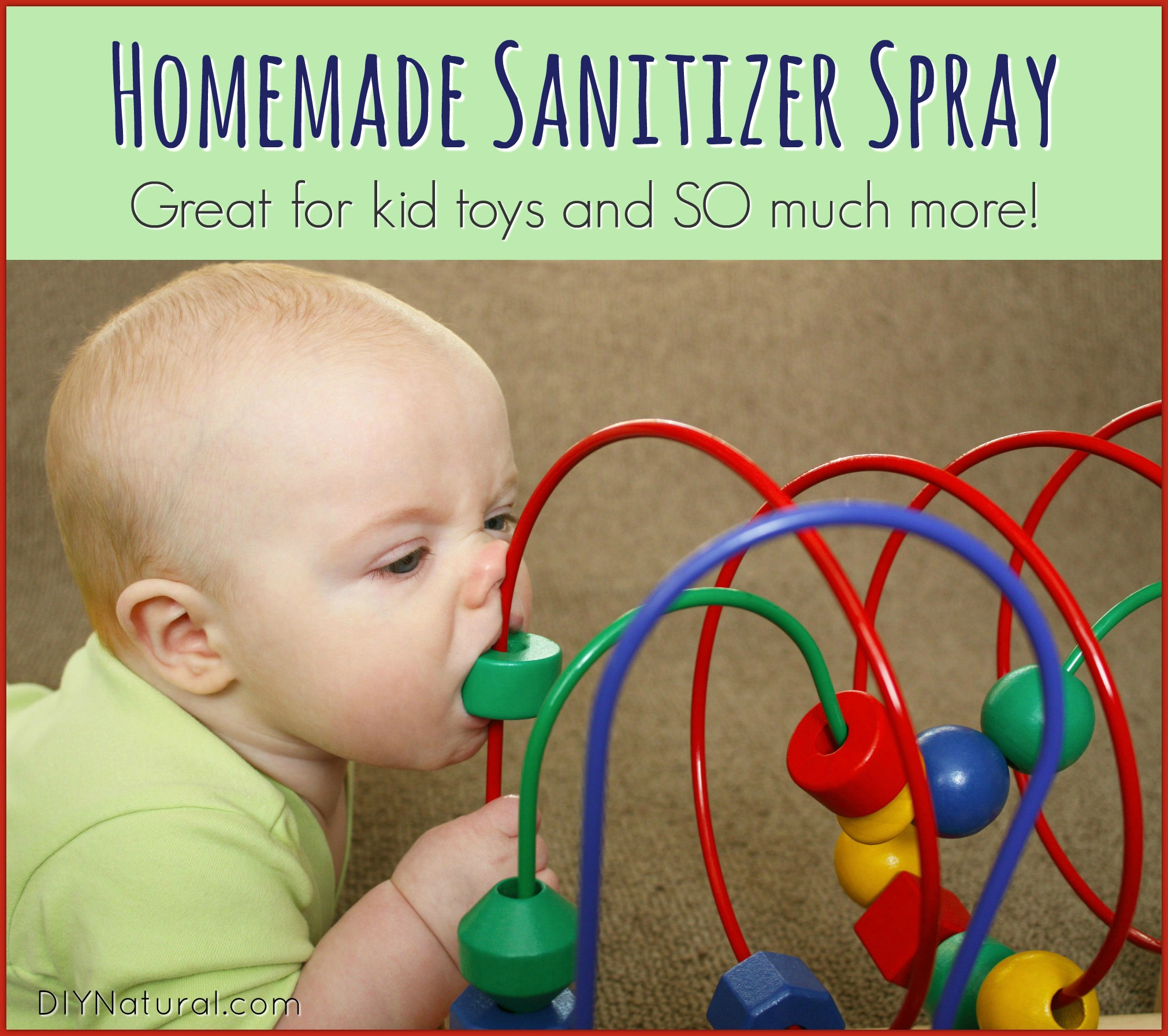 Homemade Sanitizer Spray Natural Child Toy Cleaner & More