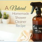 Homemade Shower Cleaner DIY Natural