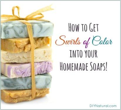 Homemade Soap Color Swirls