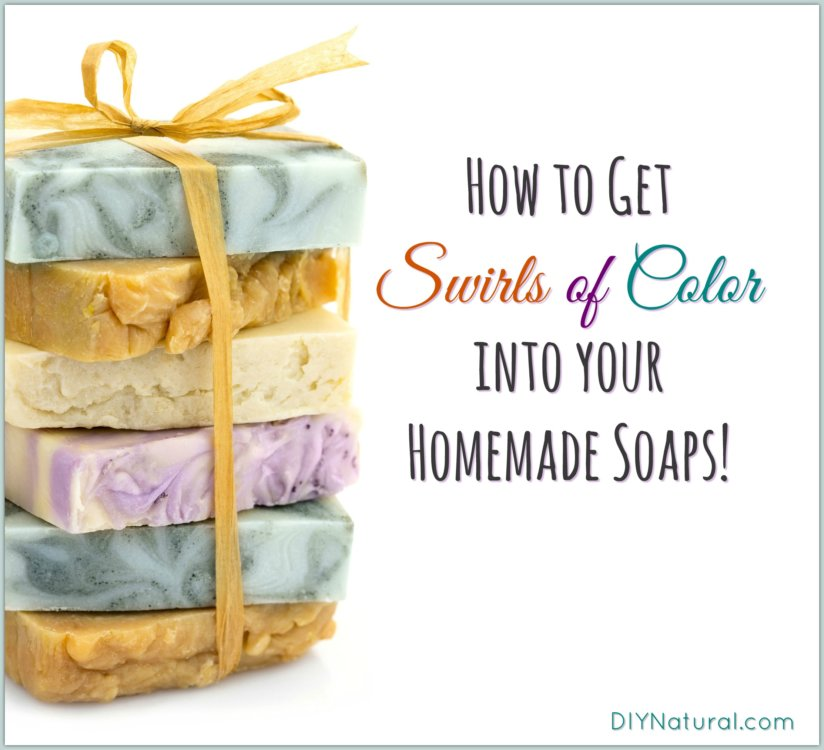 Homemade Soap Color Swirls