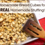 Homemade Stuffing Recipe Bread Cubes Scratch