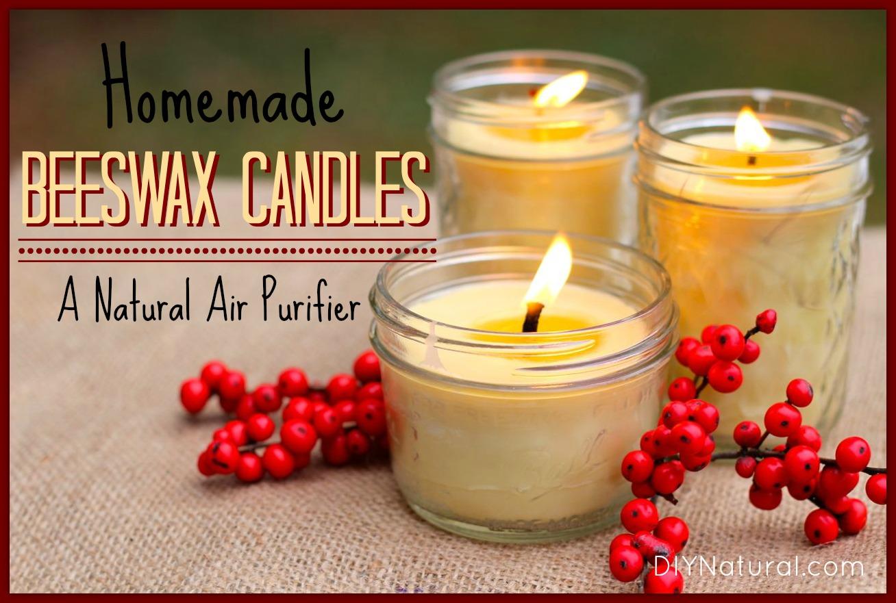 Making Natural Beeswax Candles