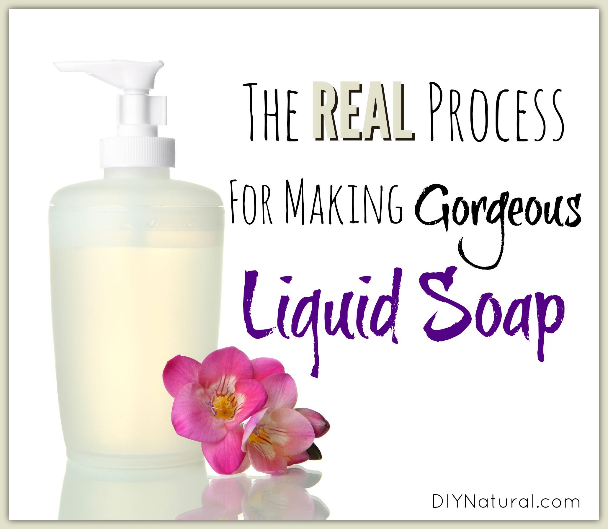 Homemade Liquid Dish Soap Recipe