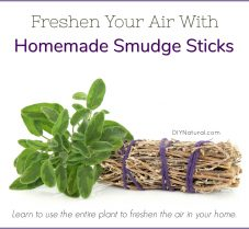 Freshen Your Air With Homemade Smudge Sticks