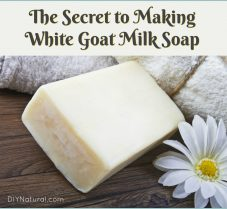 The Secret To Keeping Your Goat's Milk Soap White
