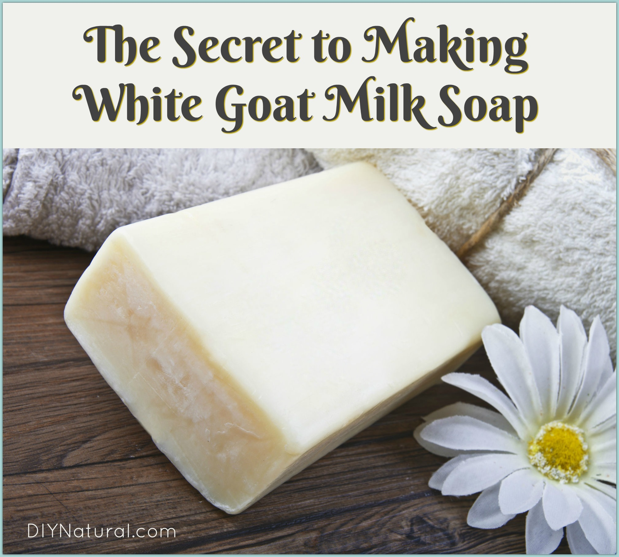 Making Goat Milk Soap White