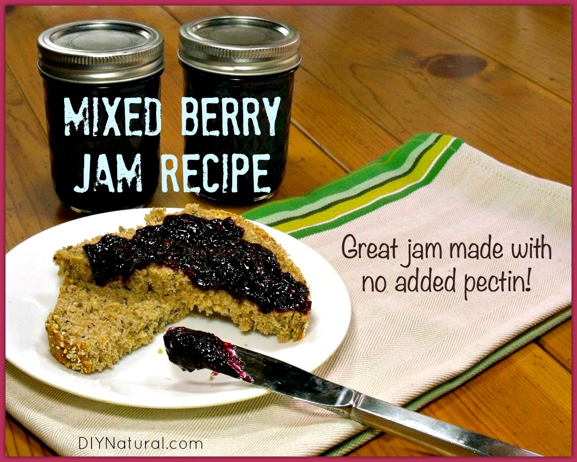 Mixed strawberry jam recipe made without added pectin for Pectine cuisine