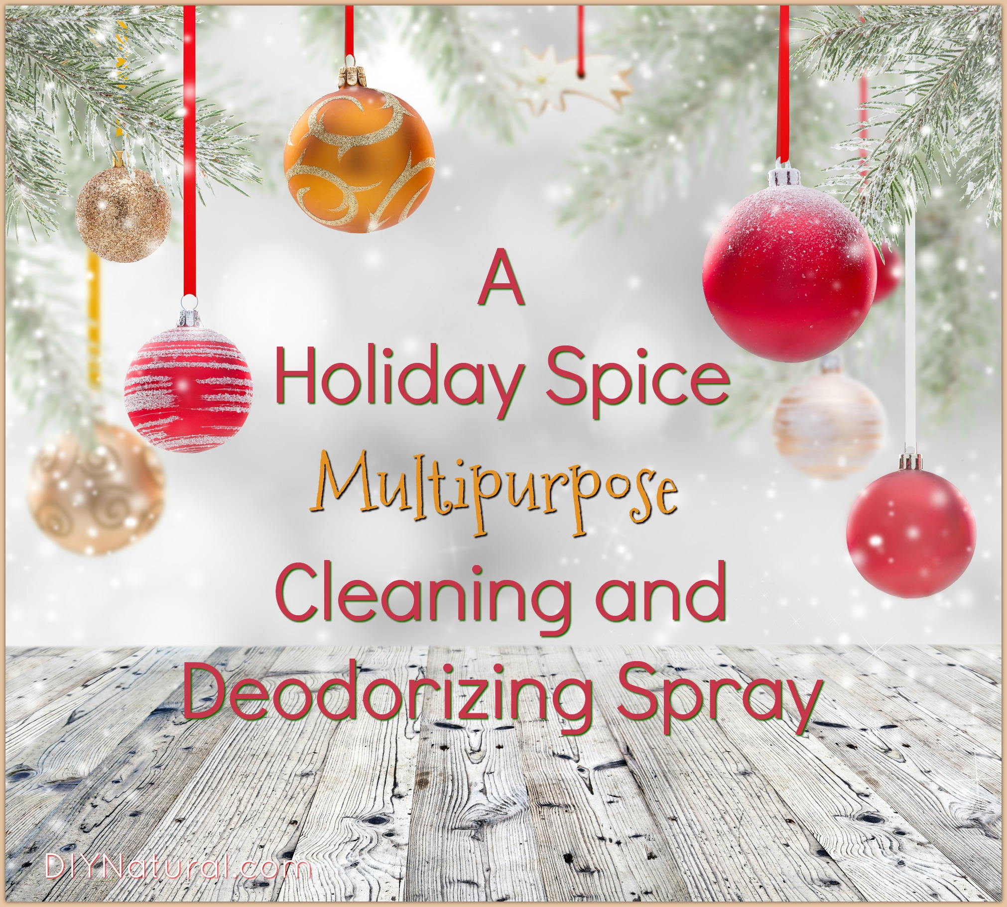 DIY Holiday Spray Recipe for Moldy & Musty Smells