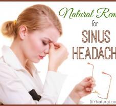 Simple, Natural, Home Remedies for Sinus Headache