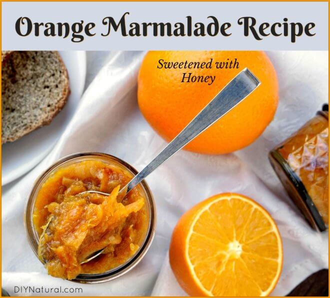 An Orange Marmalade Recipe Sweetened with Honey