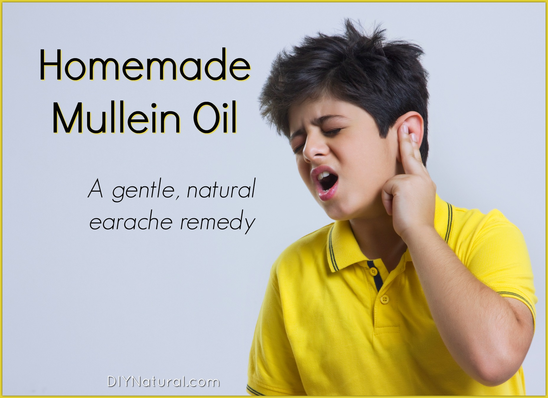 Pain In The Ear Homemade Mullein Oil Is A Natural Earache