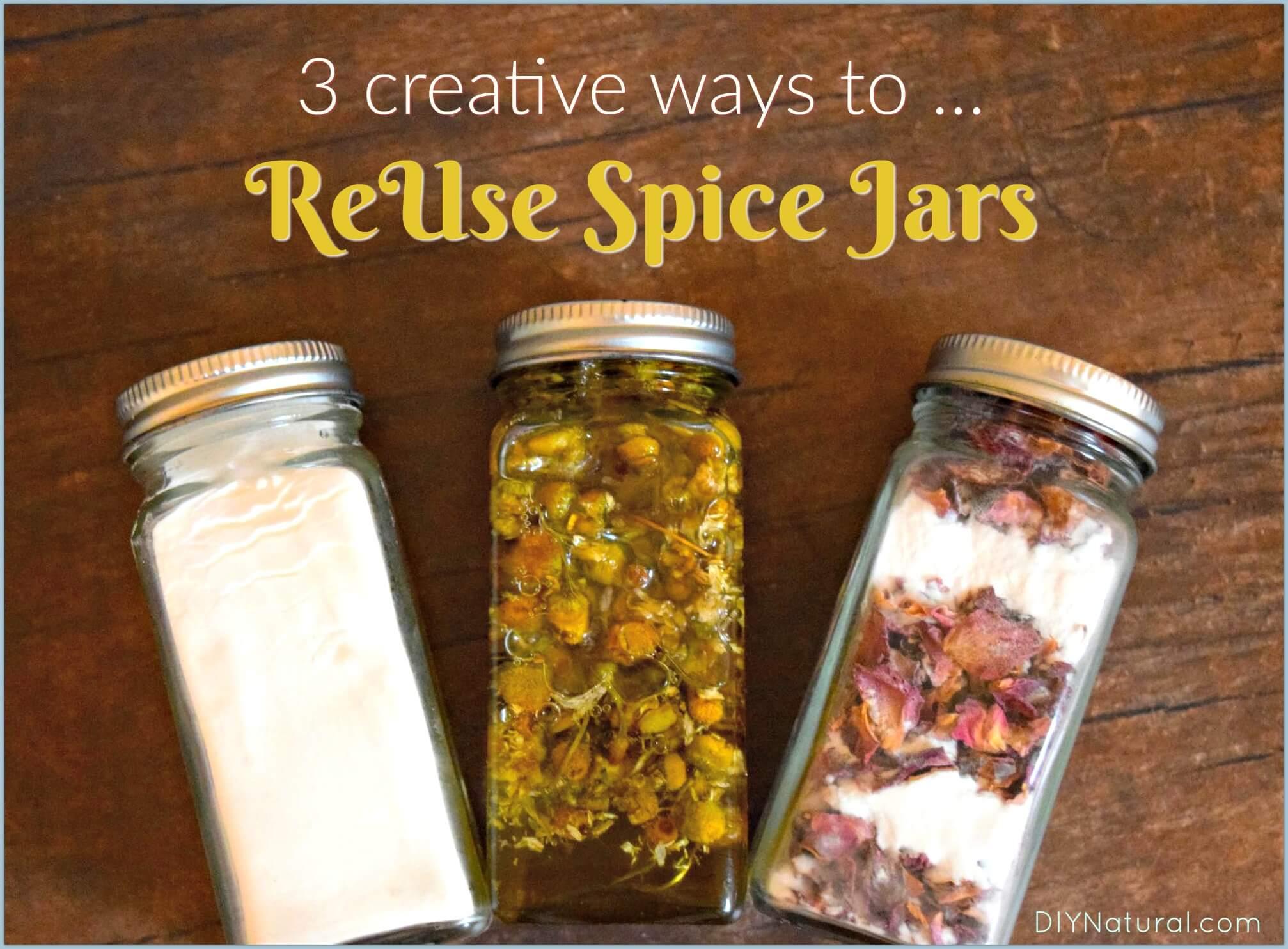 Reuse Spice Jars 3 Creative Ways To Reuse Glass Spice Jars