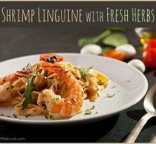 A Simple Shrimp Pasta Recipe made with Fresh Herbs
