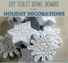DIY Winter Wonderland Toilet Bowl Cleaner Bombs