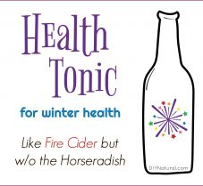 Health Tonic Like Fire Cider but Without Horseradish
