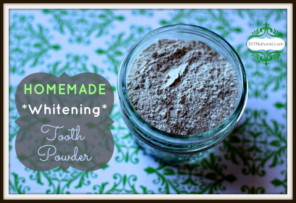 A Whitening Homemade Tooth Powder Recipe